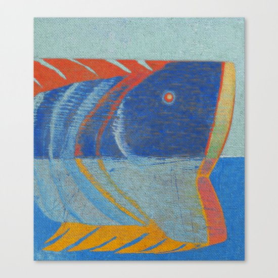 Tête de Poisson Canvas Print