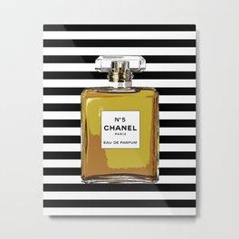 Fashion Art French Decor Pastel Perfume Print Vanity Decor Paris Wall Art Perfume Poster Coco Metal Print