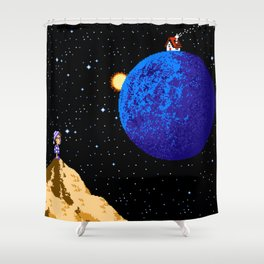 Faraway from Home Shower Curtain