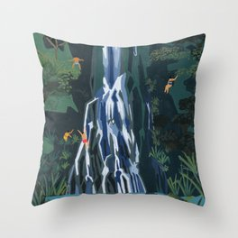 Waterfall stop Throw Pillow