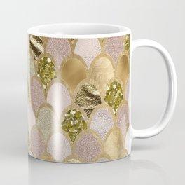 Rose gold glittering mermaid scales Coffee Mug