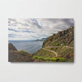 view on Funchal Metal Print