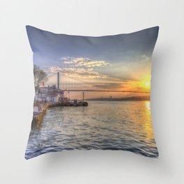 Istanbul Turkey Bosphorus Throw Pillow