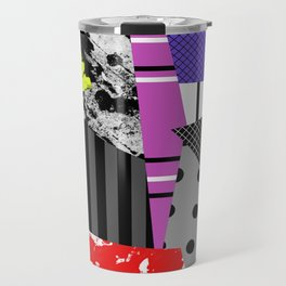 Pick A pattern II - geometric, textured, colourful, splatter, stripes, marble, polka dot, grid Travel Mug