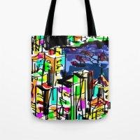 tokyo Tote Bags featuring tokyo by sladja
