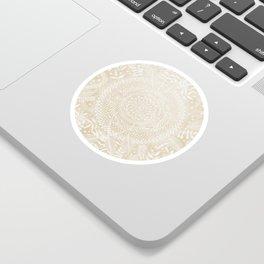 Medallion Pattern in Pale Tan Sticker