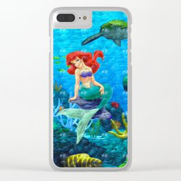 Mermaid in love Clear iPhone Case