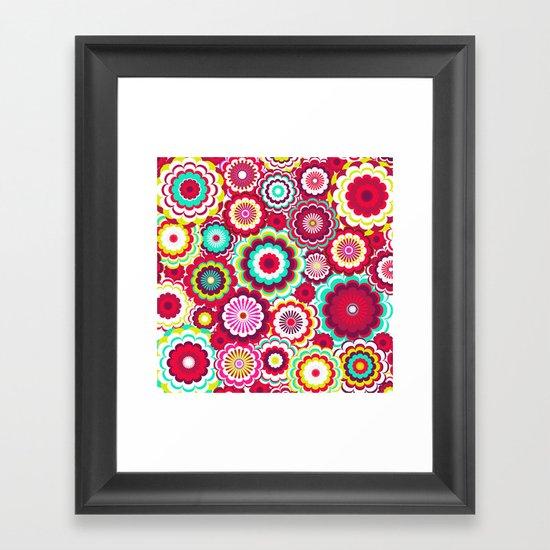 Bright Flower Dash Framed Art Print
