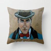 arnold Throw Pillows featuring Arnold Rothstein (Boardwalk Empire) by Bina Leo Dwyer