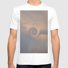 Cloud Swirl MEDIUM Mens Fitted Tee White