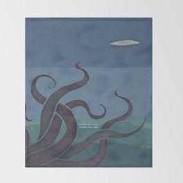 Jules Verne's Twenty Thousand Leagues Under the Sea - Minimalist literary design, literary gift Throw Blanket