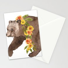 Bear with flower boa Stationery Cards