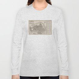 Vintage Map of Lima Peru (1764) Long Sleeve T-shirt