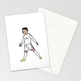 ronaldo christiano cartoon Stationery Cards
