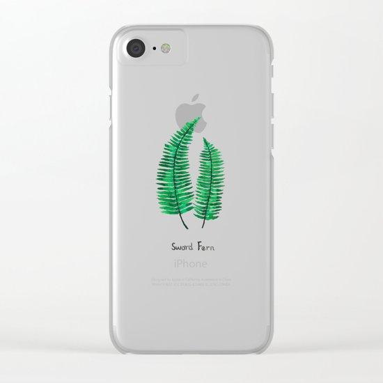 sword fern Clear iPhone Case