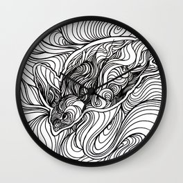 Diving to the depths Wall Clock