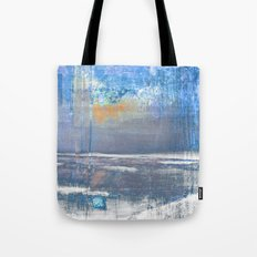 Blue Color Patches Tote Bag