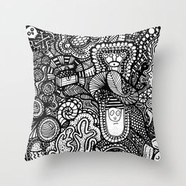 Under the Sea Doodle Throw Pillow