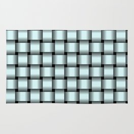 Light Cyan Weave Rug