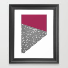 Concrete & Lines Framed Art Print