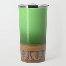 Green Wall, Wood Trim Travel Mug