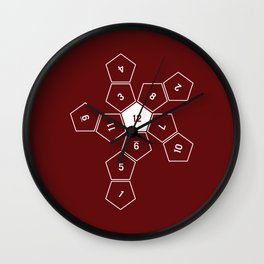 Unrolled D12 Wall Clock