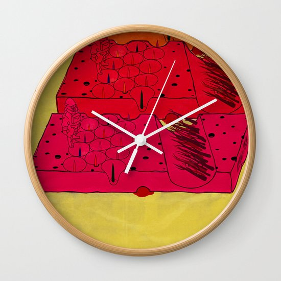 INDUSTRIAL CHEESE Wall Clock