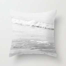 Monochrome Beach Throw Pillow