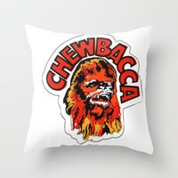 chewbacca Throw Pillows featuring Chewbacca by Popp Art