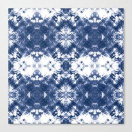 Shibori Tie Dye Indigo Blue Canvas Print