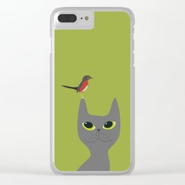 Easily Distracted By Birds Clear iPhone Case