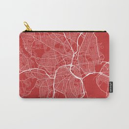 Providence Map, USA - Red Carry-All Pouch