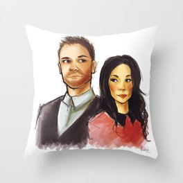 elementary: holmes and watson Throw Pillow