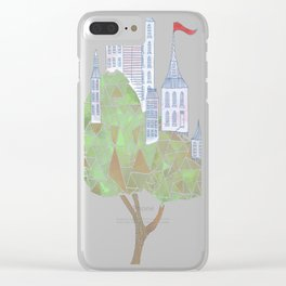 Arboreal Abode copy Clear iPhone Case