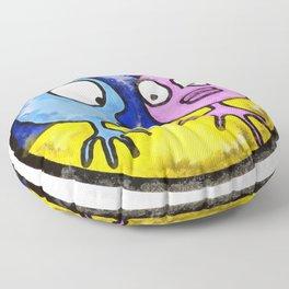 Bewildered Aliens 2 Floor Pillow