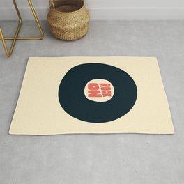 Rock on Vinyl Rug
