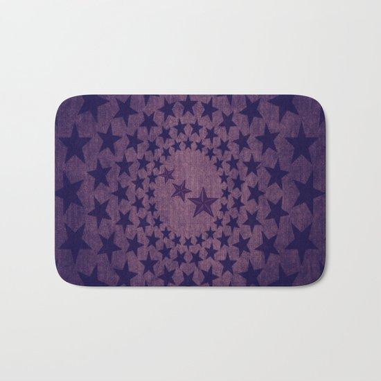 Purple stars decorative pattern Bath Mat