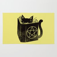 witchcraft Area & Throw Rugs featuring Witchcraft Cat by Tobe Fonseca
