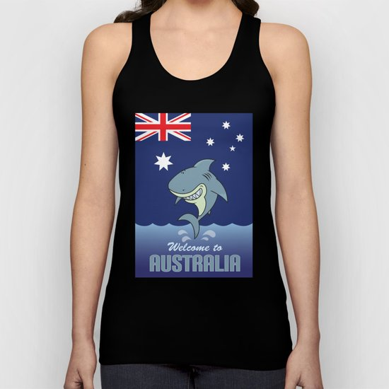 welcome to australia Unisex Tank Top