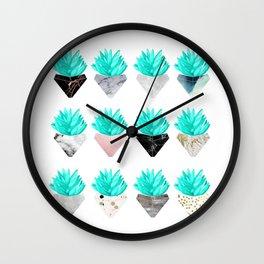 Assorted Succulents Wall Clock