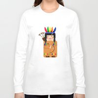 indian Long Sleeve T-shirts featuring Indian by lescapricesdefilles
