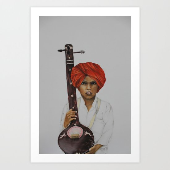 indian boy Art Print