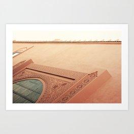 knock knock knock on Riad's door Art Print