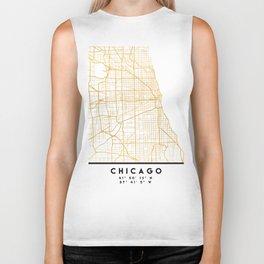 CHICAGO ILLINOIS CITY STREET MAP ART Biker Tank