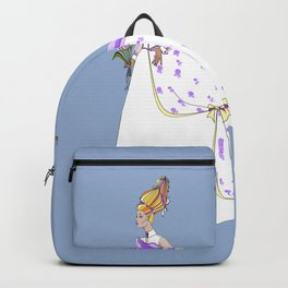 The Bouffant Bride in White with Satin Bows Backpack