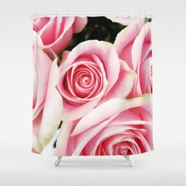 Pink Roses by J.Avery Design Shower Curtain