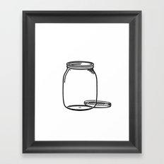 The Empty Jar Framed Art Print