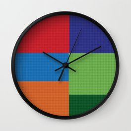 Tiled Squares  Wall Clock