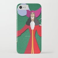 captain hook iPhone & iPod Cases featuring Captain Hook by AmadeuxArt