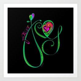 Joy-Bright Art Print